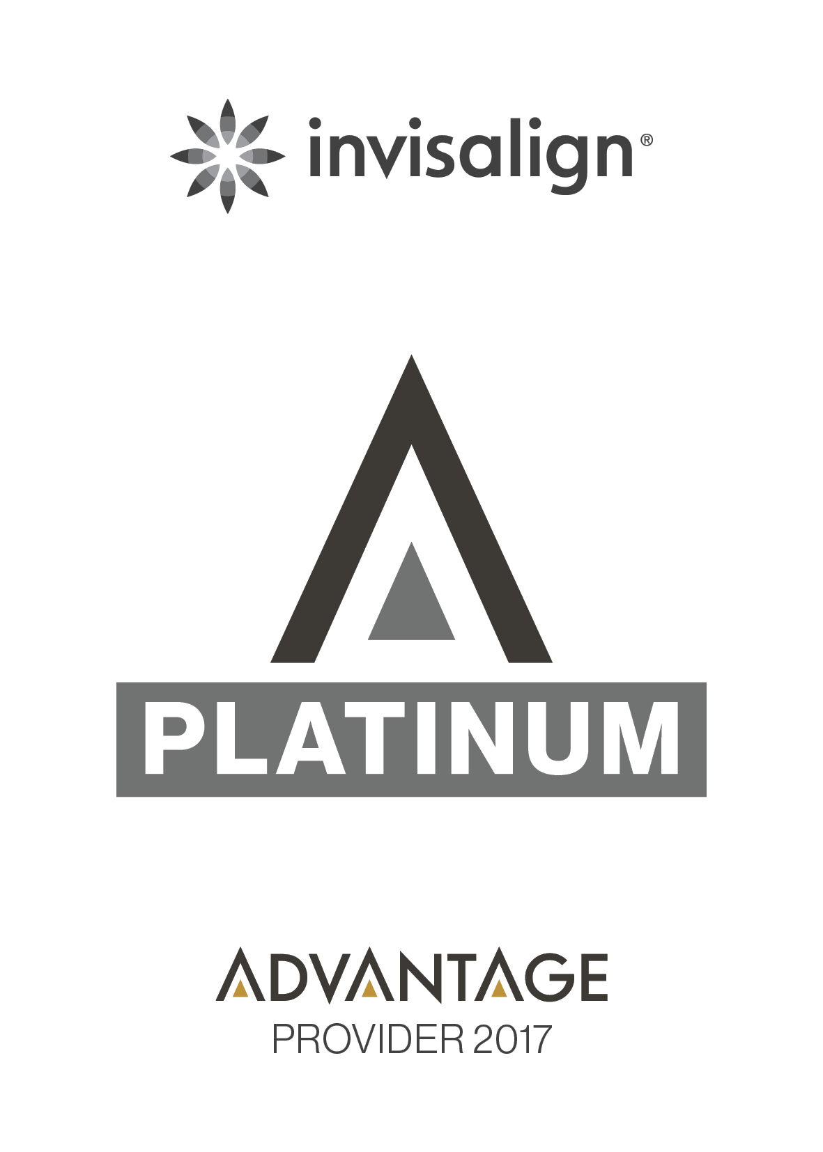 We are a Platinum Provider of Invisalign