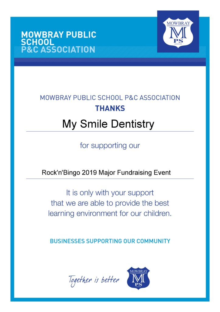 Certificate of Appreciation from Mowbry Public School