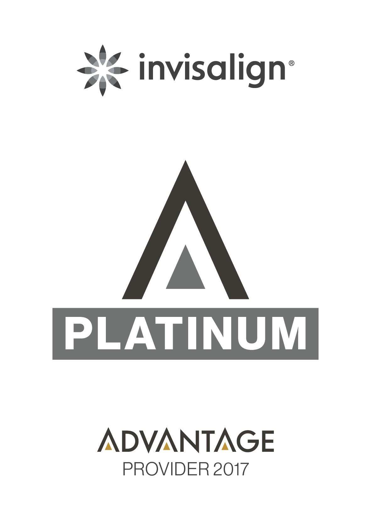 We are a Platinum Provider of Invisalign